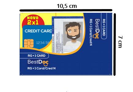 Protetor Combinado  RG +CRED - 10 Peças