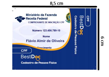 Protetor CPF - 10 Peças
