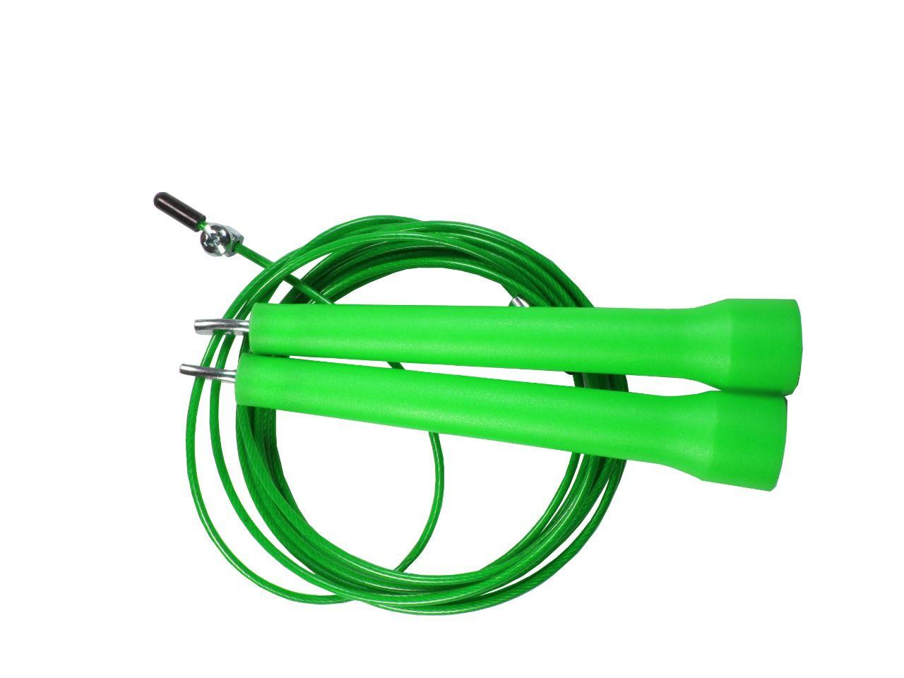 Corda De Pular Speed Rope 1 Rolamento / PVC Verde