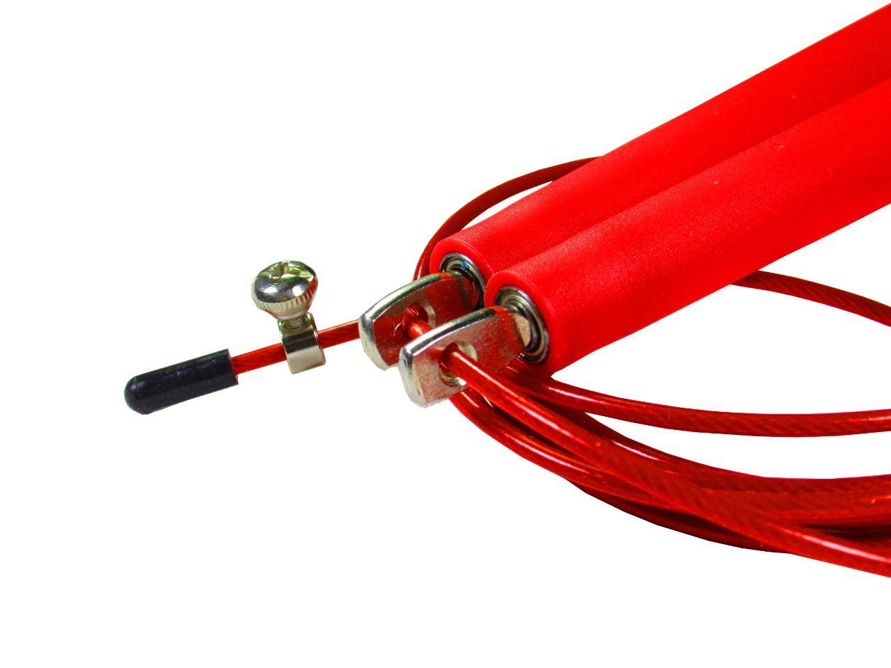 Corda De Pular Speed Rope 1 Rolamento / PVC Vermelho