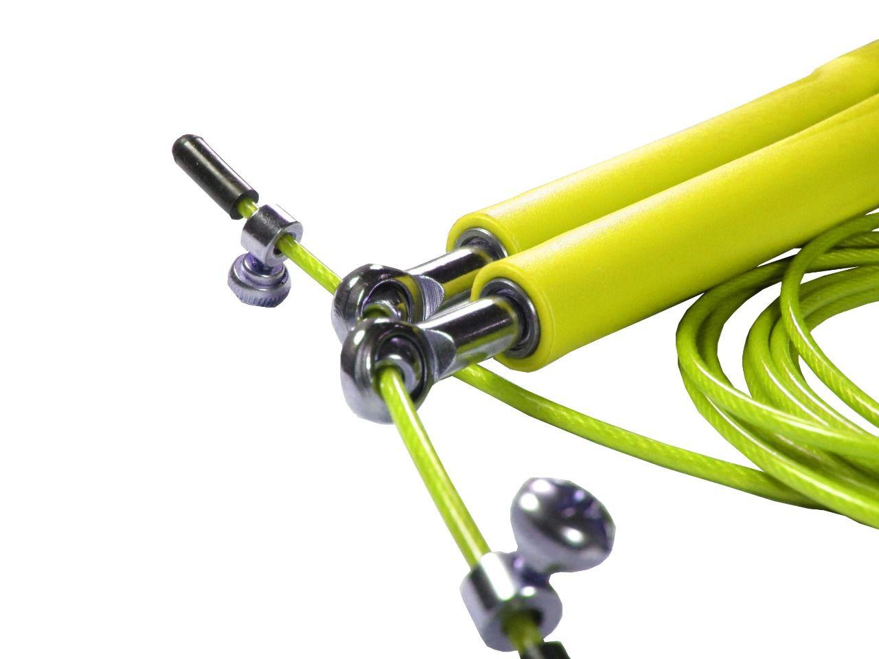 Corda De Pular Speed Rope 2 Rolamento / PVC Amarelo