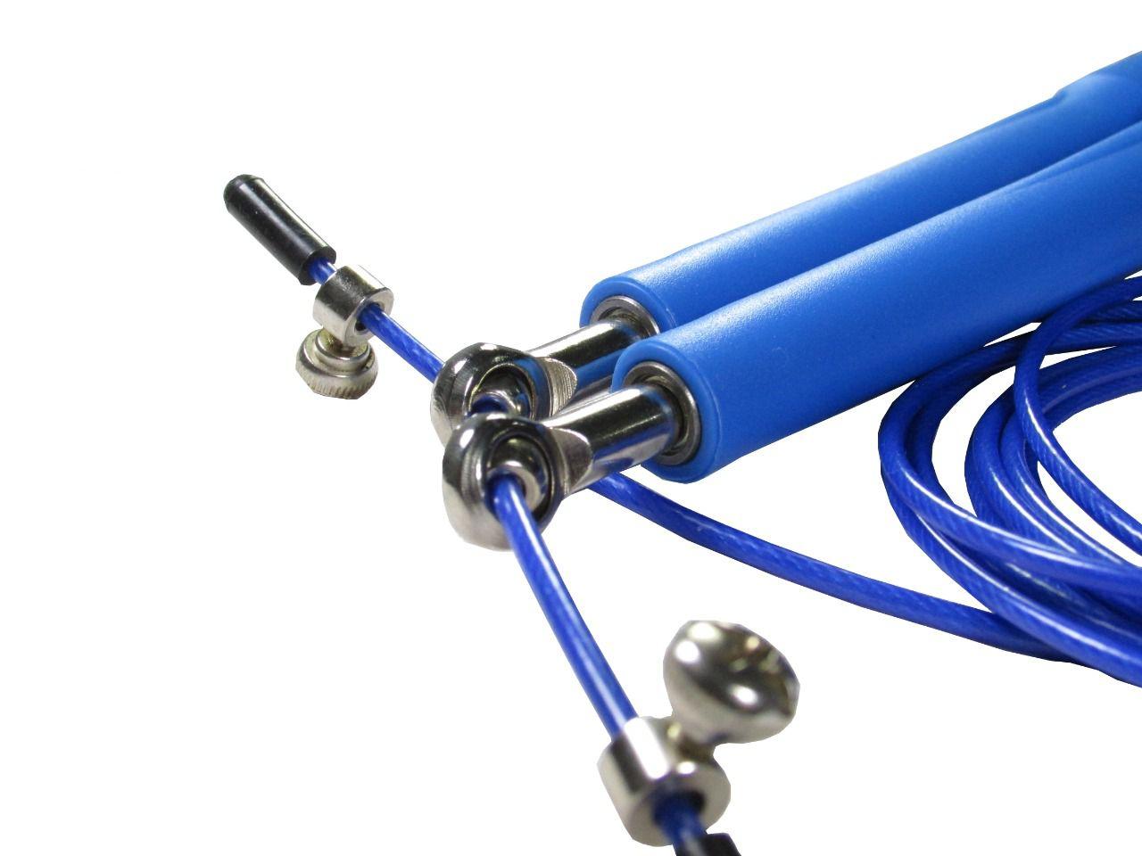 Corda De Pular Speed Rope 2 Rolamento / PVC Azul