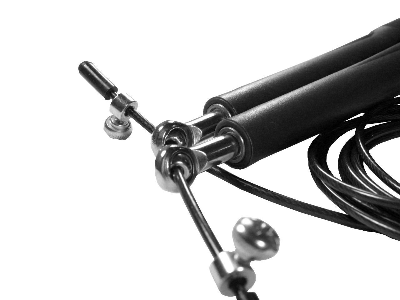 Corda De Pular Speed Rope 2 Rolamento / PVC Preta
