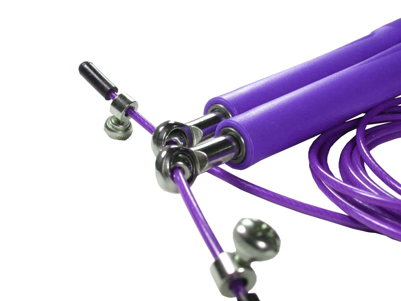 Corda De Pular Speed Rope 2 Rolamento / PVC Roxo