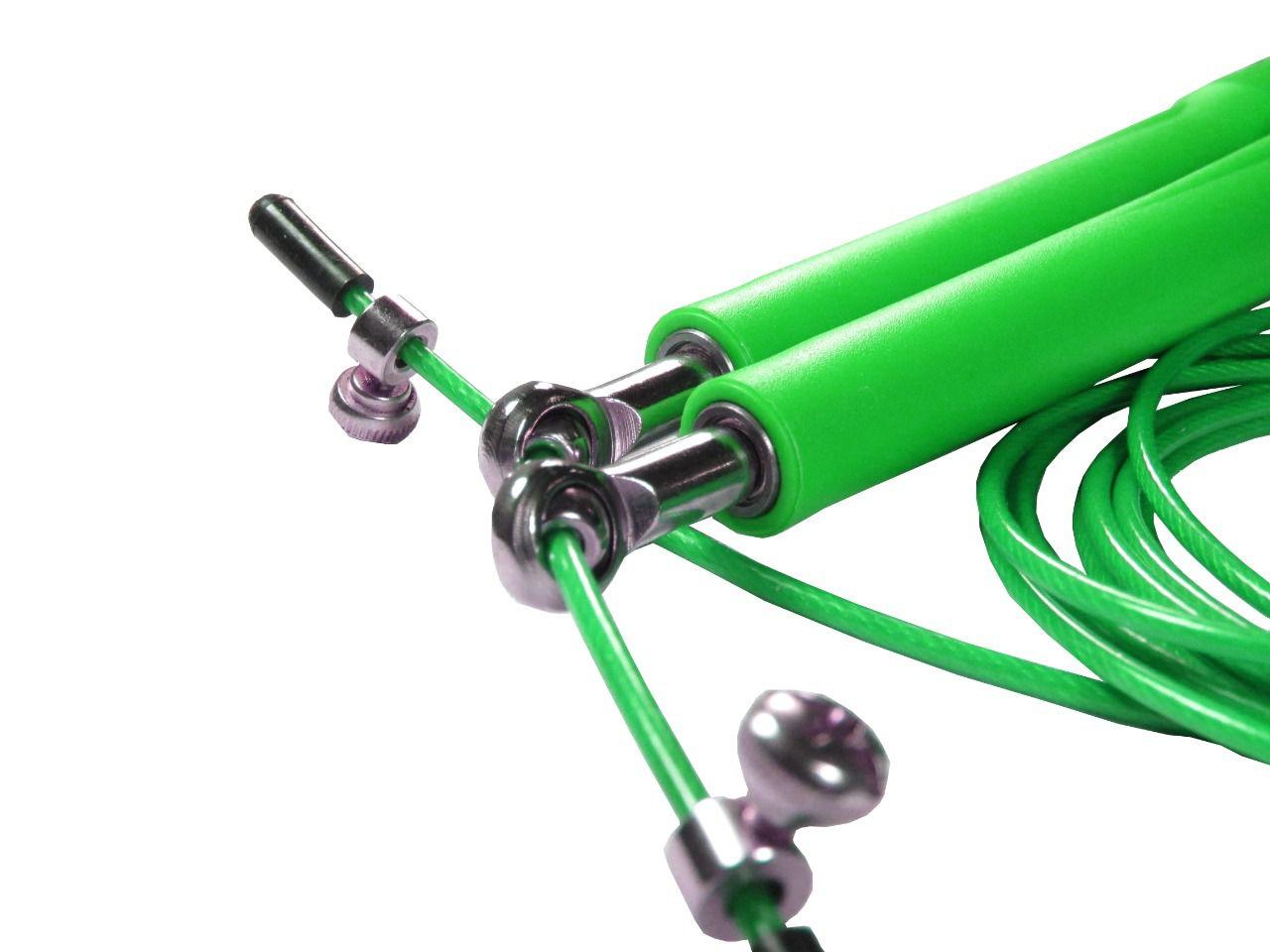 Corda De Pular Speed Rope 2 Rolamento / PVC Verde