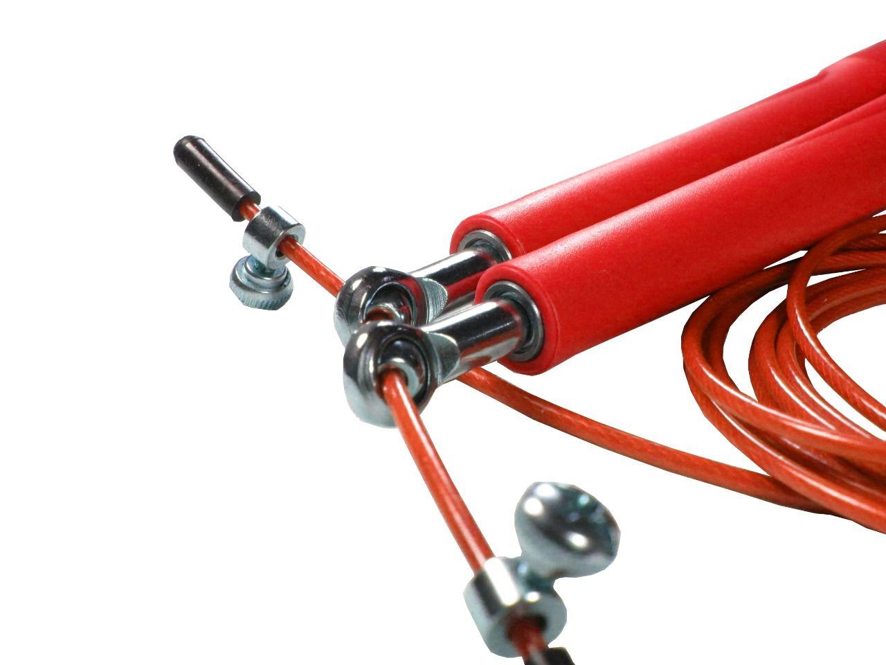 Corda De Pular Speed Rope 2 Rolamento / PVC Vermelho