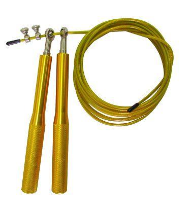 Corda De Pular Speed Rope 2 Rolamentos Alumínio - Amarela