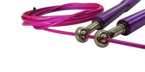 Corda De Pular Speed Rope 2 Rolamentos Alumínio - Roxa