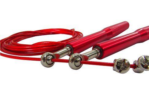 Corda De Pular Speed Rope 2 Rolamentos Alumínio - Vermelha