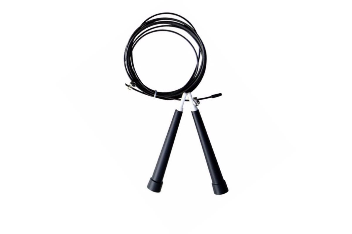 Corda De Pular Speed Rope / PVC Preto