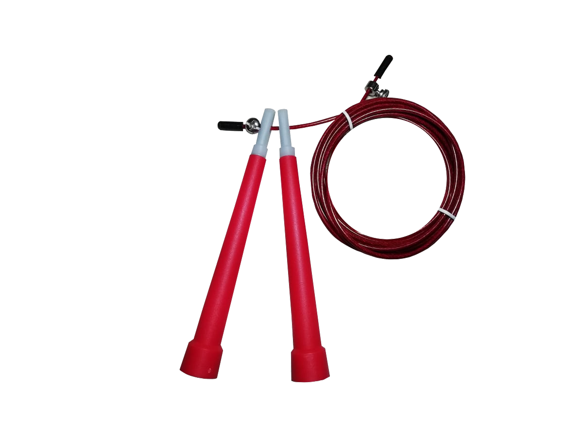 Corda De Pular Speed Rope / PVC Vermelho