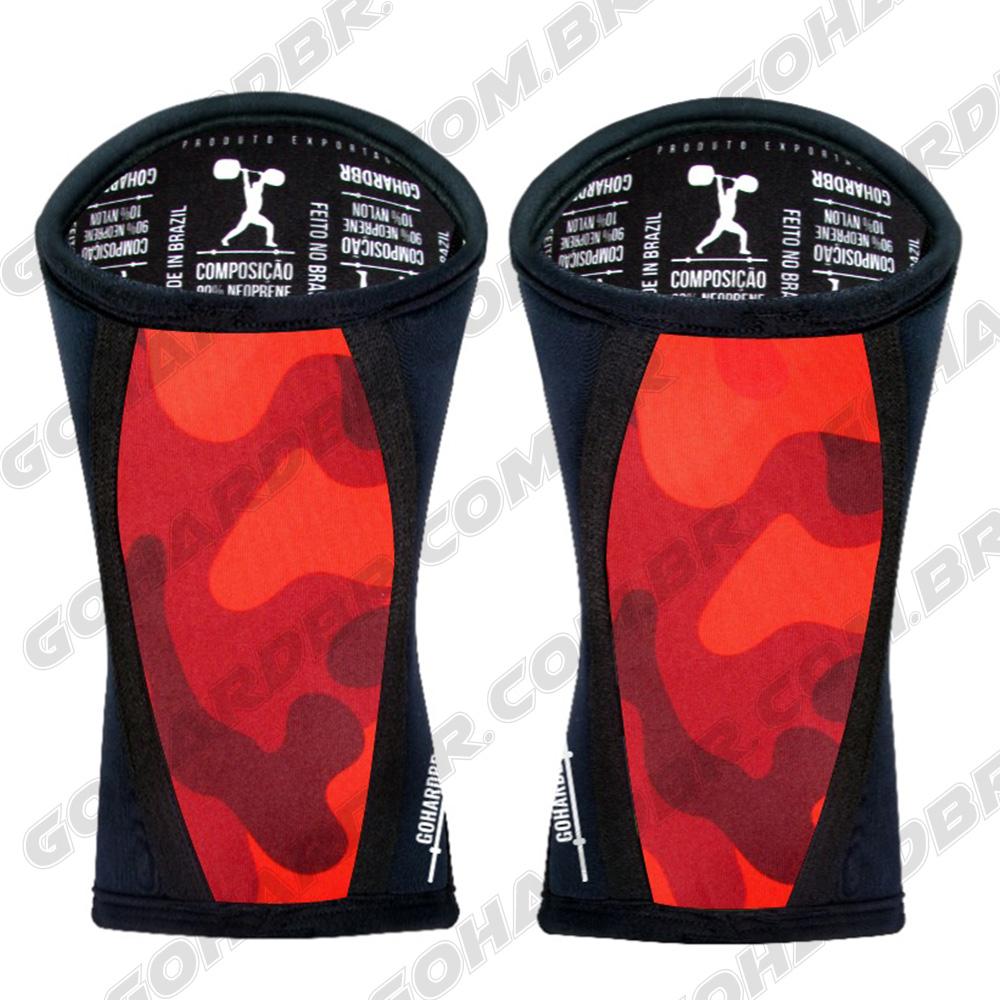 Joelheira 7mm ORIGINAL GOHARDBR Camuflado Vermelho