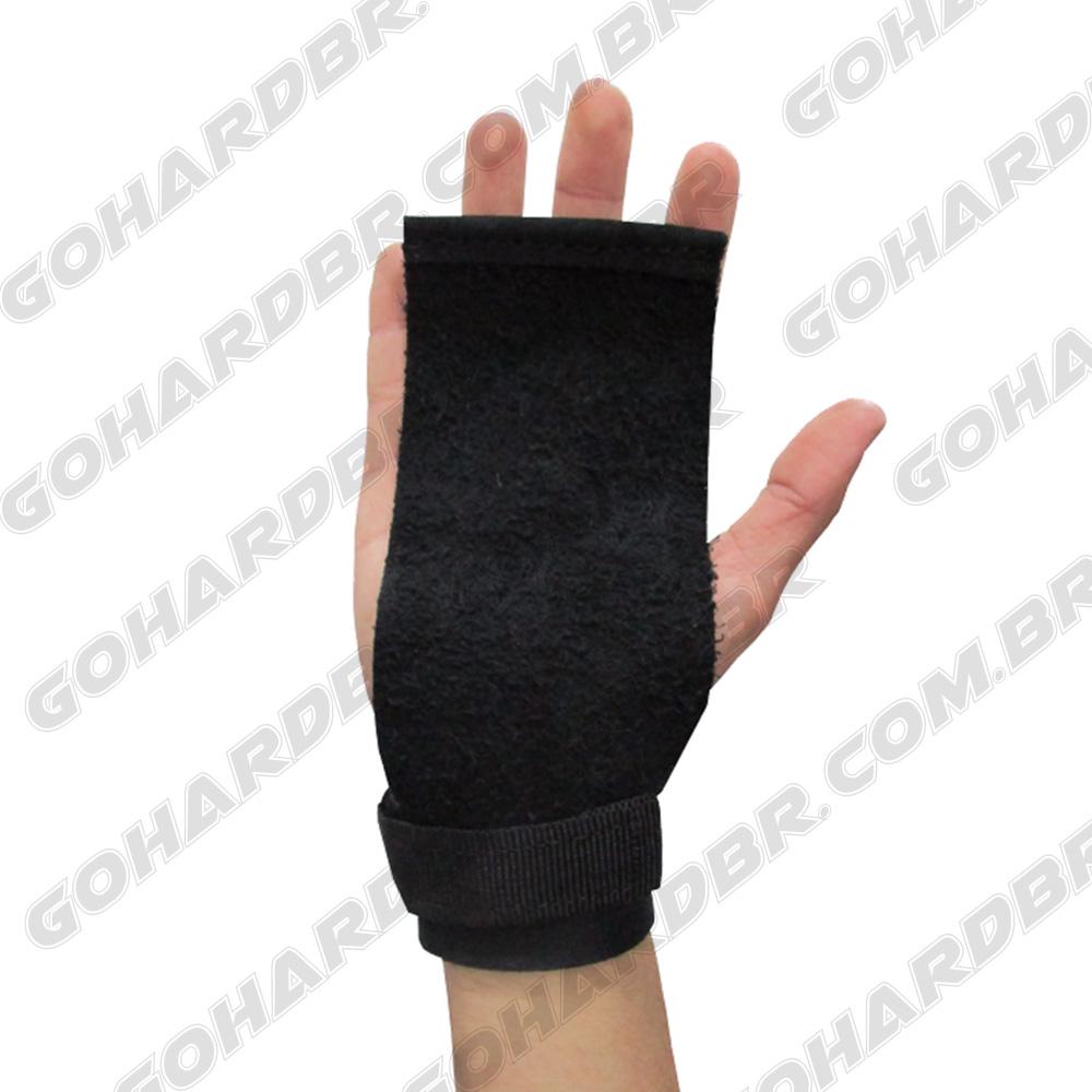 Luva Grip Pro Lifter Couro Preto