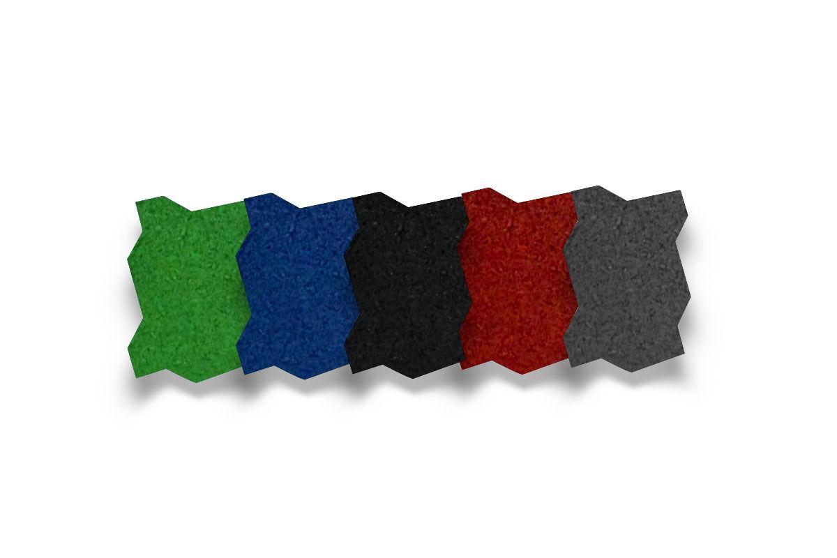 Piso de Borracha Ecológico Colorido Street Simples 15mm - A partir de R$ 2,74 A UNIDADE. Faça sua cotação antes da compra!