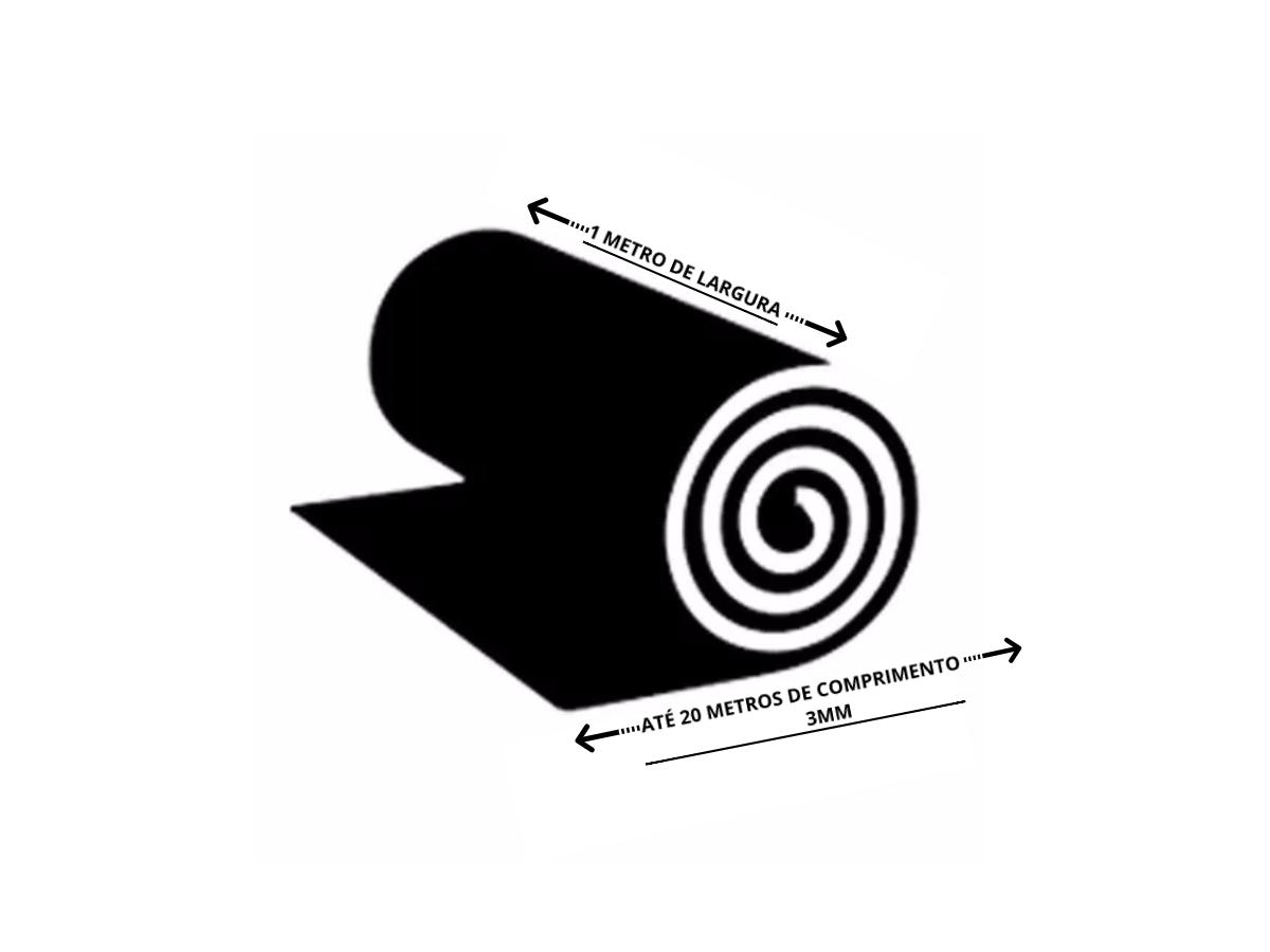 Piso PVC em Manta 6mm Liso
