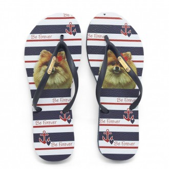 Chinelo Be Forever By Rafitthy 01702B Lulu Navy Stripes