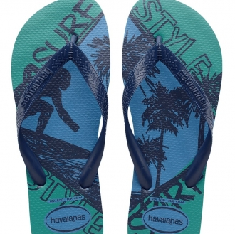 Chinelo Havaianas Top Athletic Surf Masculino Azul