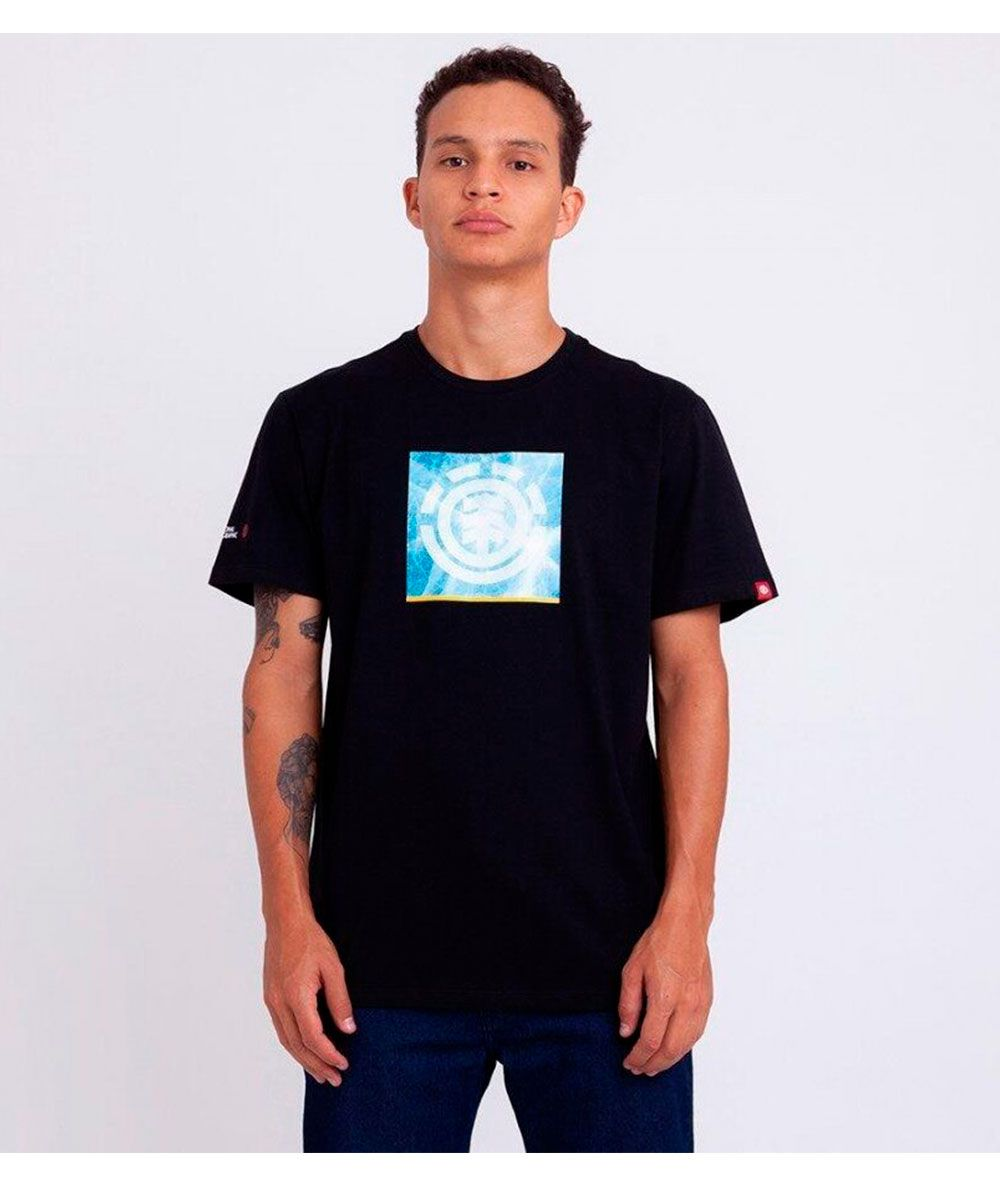 Camiseta Element Solvent Icon Masculina E471a0063 Preta