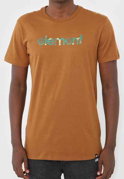 Camiseta Element Water Camo Mark E471A0247 Marrom