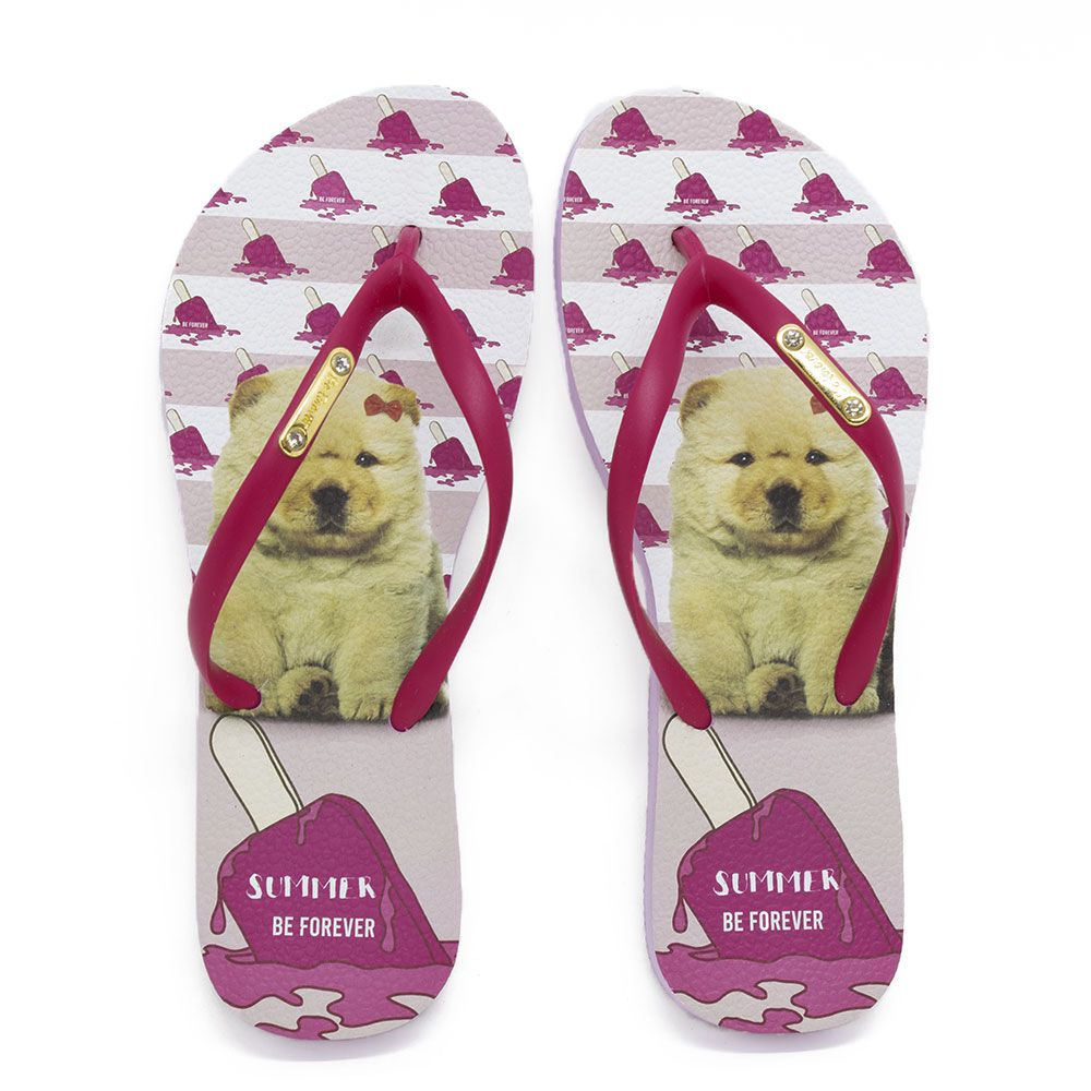 Chinelo Be Forever By Rafitthy 01702B Chow Chow Summer Pink