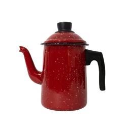 Bule 1,3L para Ferver de Aço Carbono Esmaltado Tradicional Vermelho