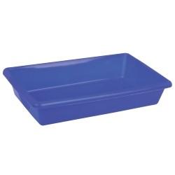 Caixa Sanitária para Gatos de Plástico Retangular 6,4L Azul Sanremo