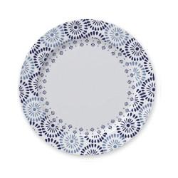 Conjunto de Pratos para Sobremesa 6 Peças de Porcelana 21Cm Lisboa