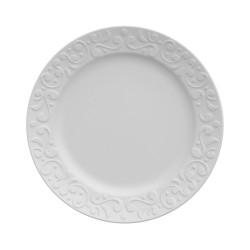 Conjunto de Pratos para Sobremesa 6 Peças de Porcelana 21Cm Tassel