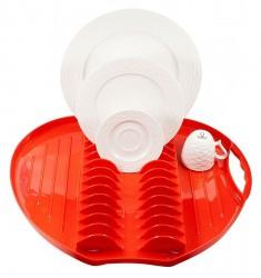 Escorredor para Louças de Plástico Resistênte Maça Vermelho Wow