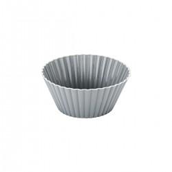 Forma Assadeira para Cupcake 12 Peças de Silicone Cinza