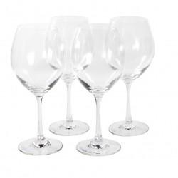 Jogo de Taças 4 Peças para Água ou Vinho de Vidro 450Ml Crystaline