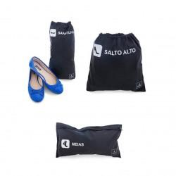 Kit de Viagem para Meia Sapatilha e Sapato 3 Sacos de Poliamida