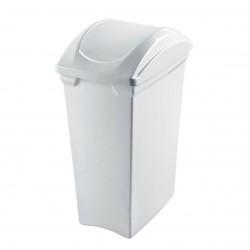 Lixeira 15L de Plástico Basculante Sanremo Branca