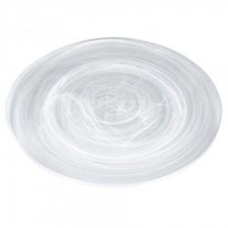 Prato de Vidro para Sobremesa Decorado Nuvem 20,5Cm