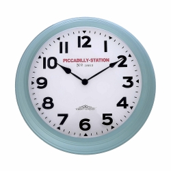 Relógio para Parede de Plástico Verde 36Cm