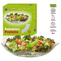 Saladeira e Fruteira de Vidro Bari 32 Cm