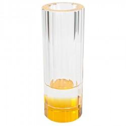 Vaso de Vidro Decorativo Solitário Base Ambar