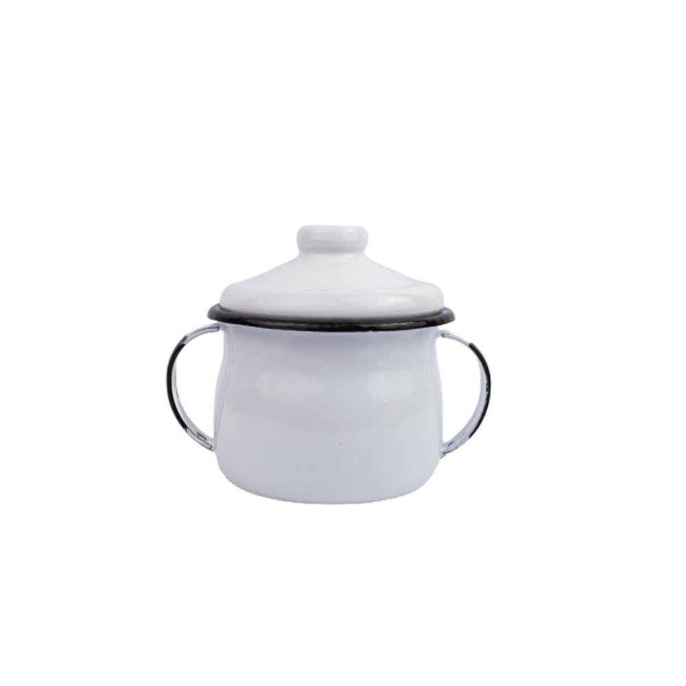 Açucareiro de Aço Carbono Esmaltado Branco 239g