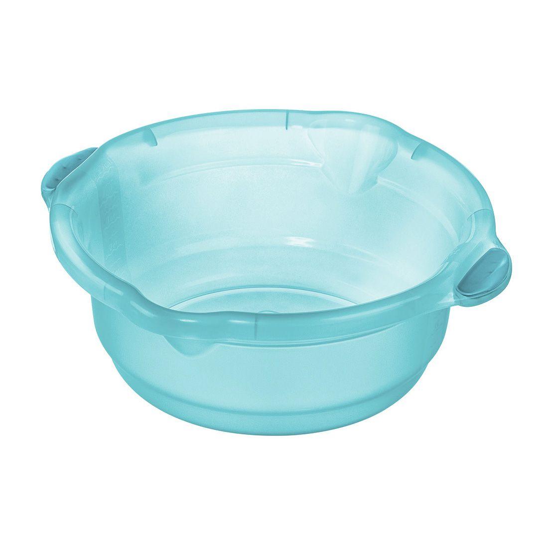 Bacia para Limpeza de Plástico Azul Tiffany Sanremo  5,2L