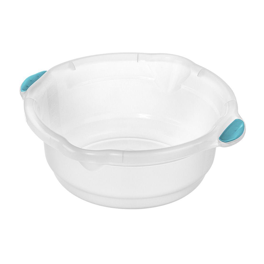 Bacia para Limpeza de Plástico Cristal Sanremo  8,6L