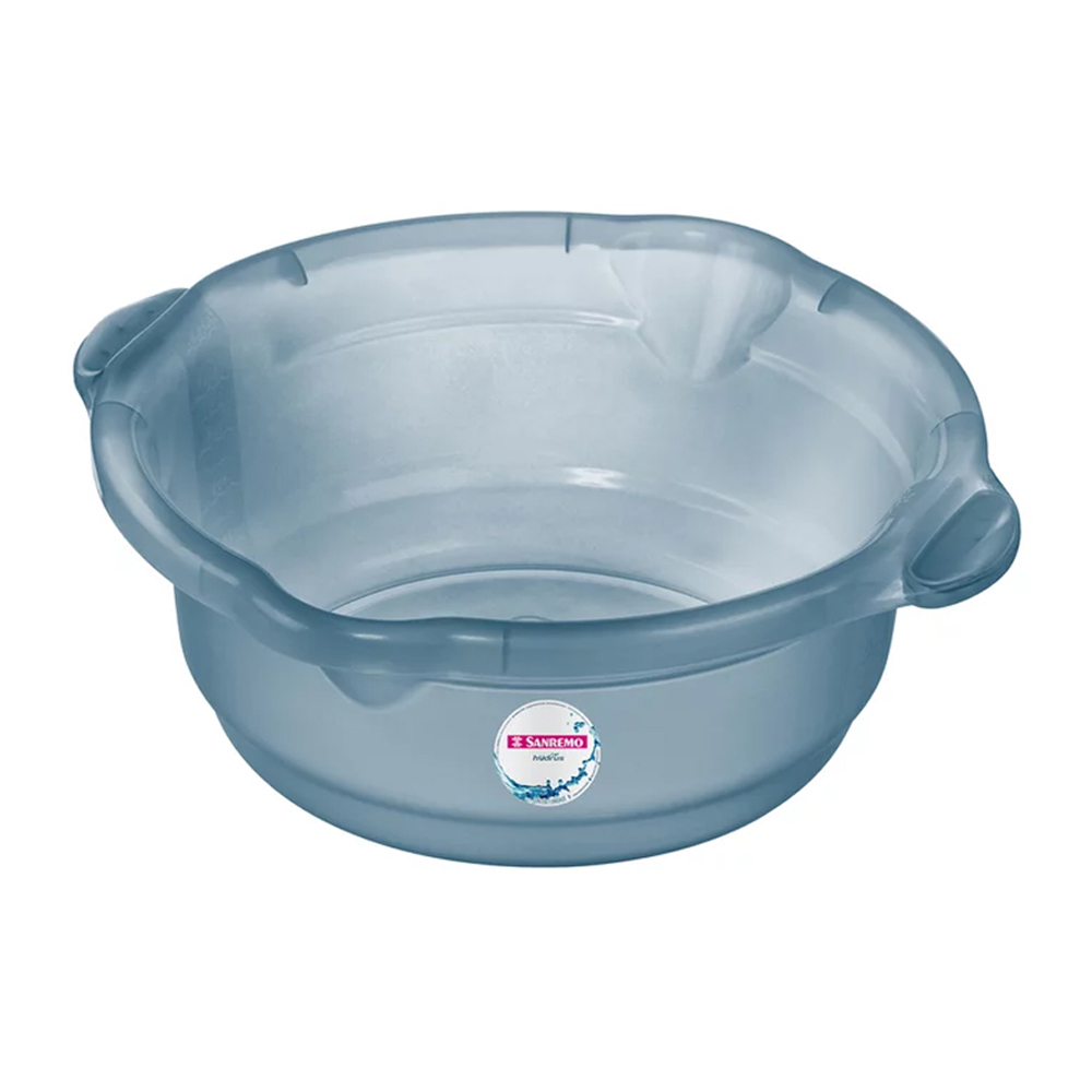 Bacia Sanremo 8,6L de Plástico para Limpeza Azul