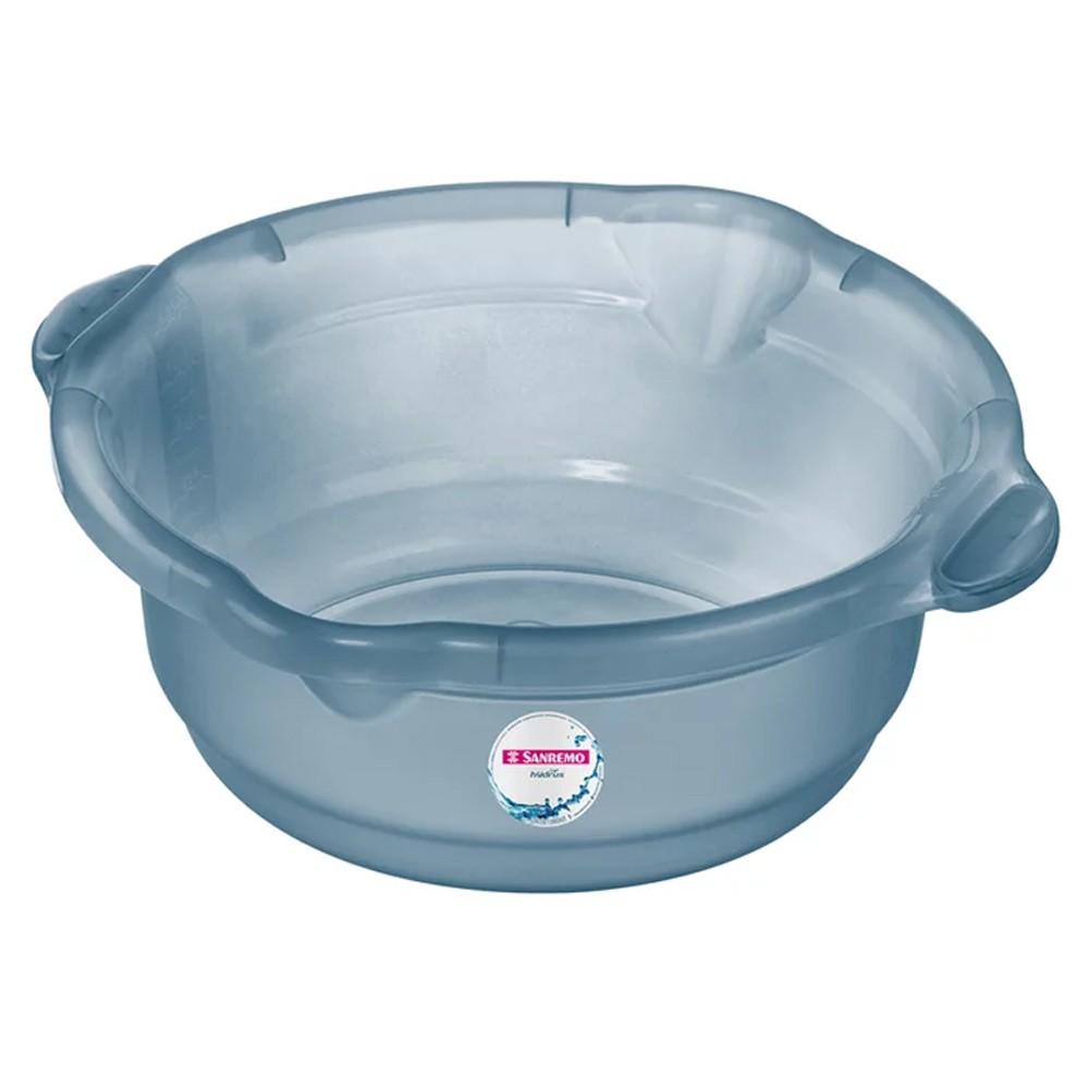 Bacia para Limpeza de Plástico Azul Sanremo 8,6L
