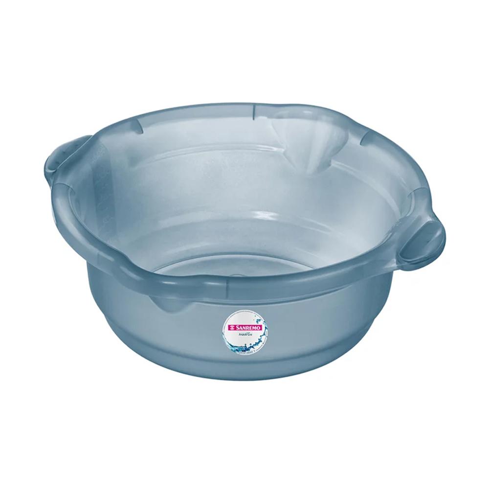 Bacia 5,2L para Limpeza de Plástico Azul Sanremo