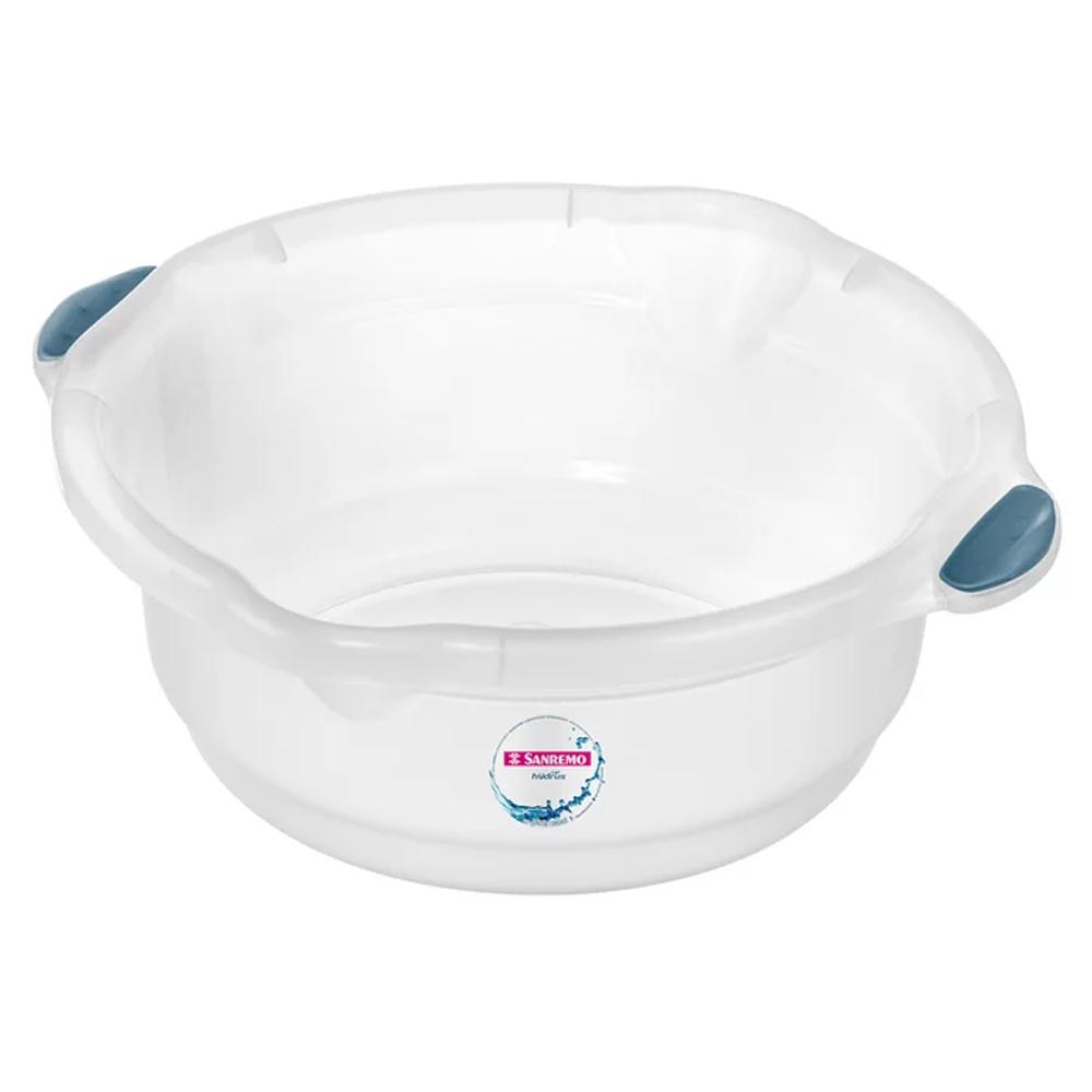 Bacia 14L para Limpeza de Plástico Cristal Sanremo