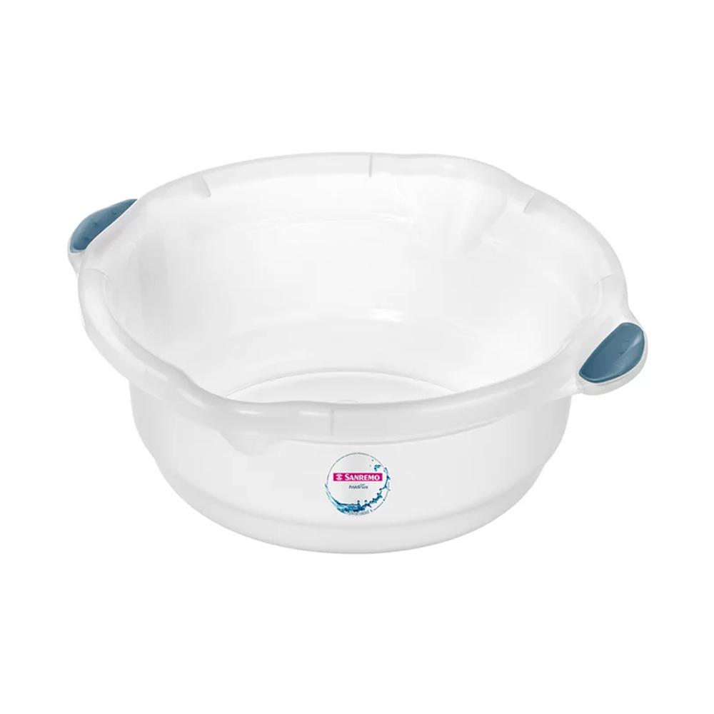Bacia 5,2L para Limpeza de Plástico Cristal Sanremo