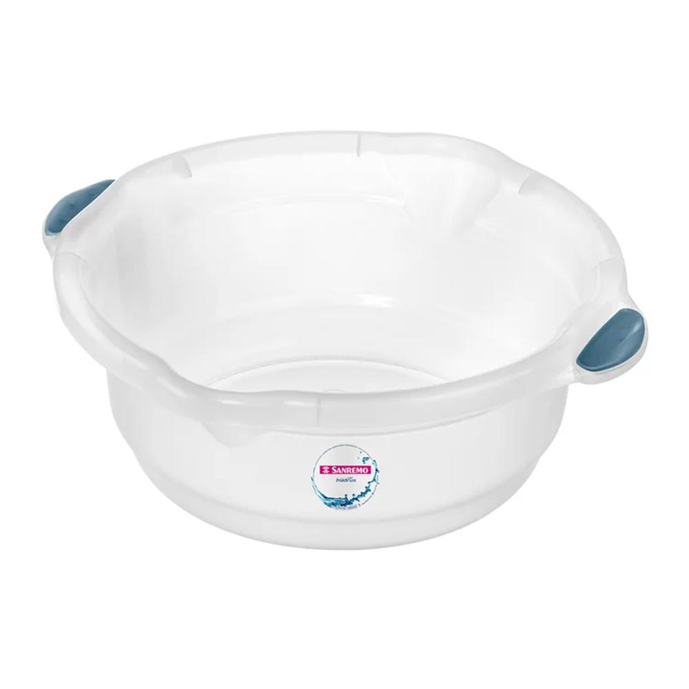 Bacia 8,6L para Limpeza de Plástico Cristal Sanremo