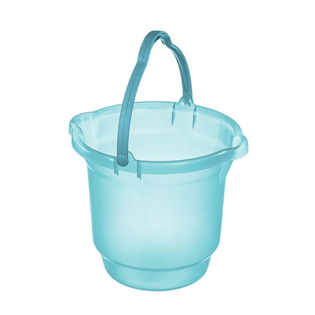 Balde para Limpeza de Plástico Azul Tiffany Sanremo 15L