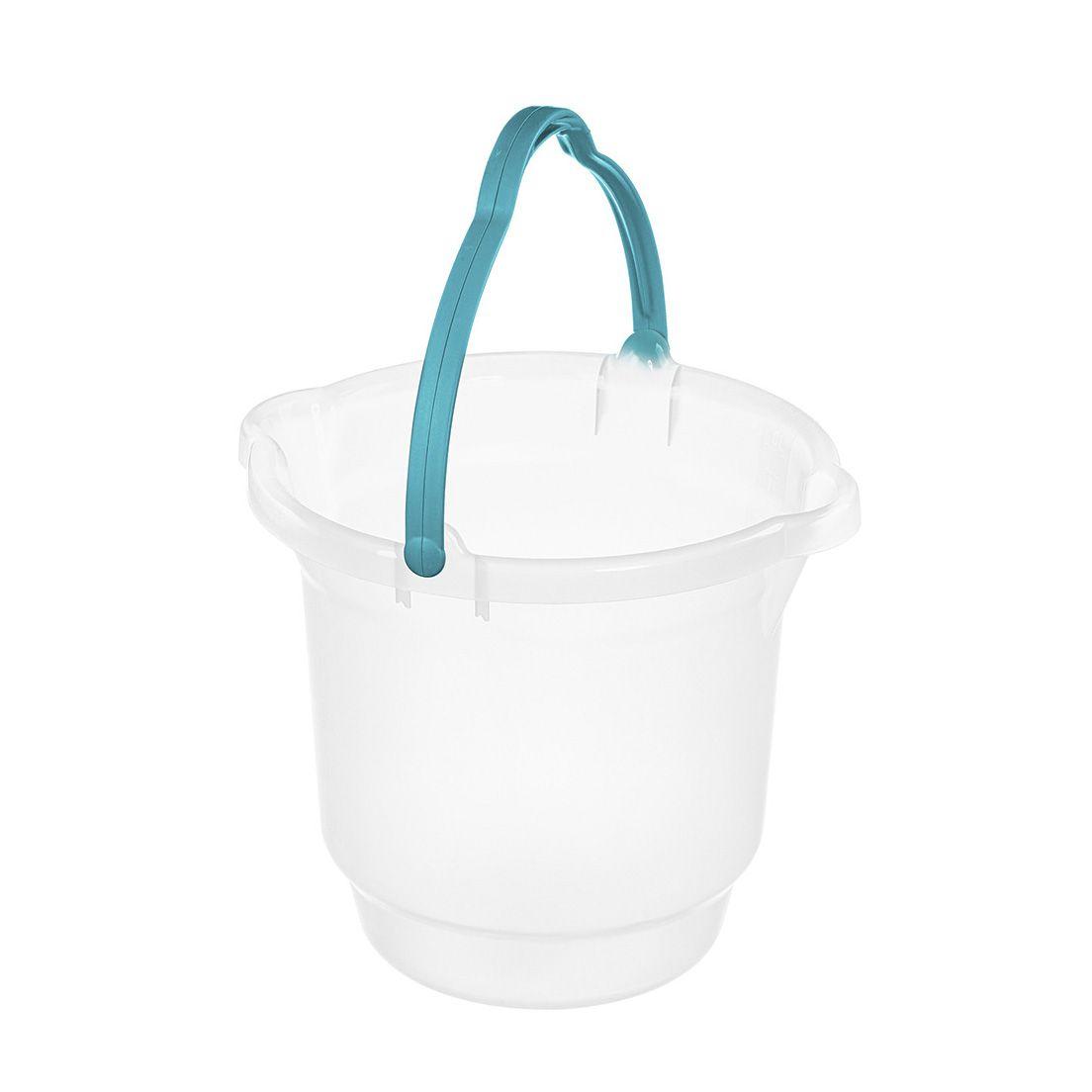Balde para Limpeza de Plástico Cristal Sanremo 15L
