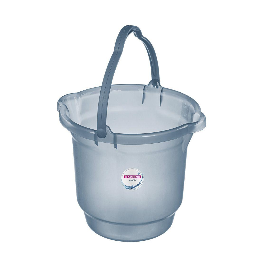 Balde para Limpeza de Plástico Azul Sanremo 8,5L