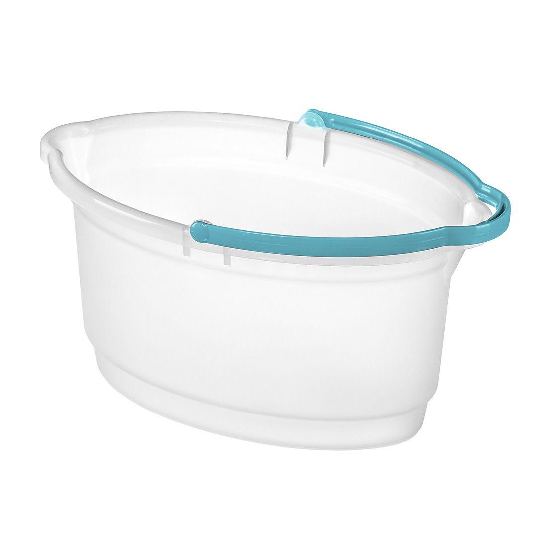 Balde para Limpeza Oval de Plástico Cristal Sanremo 14L